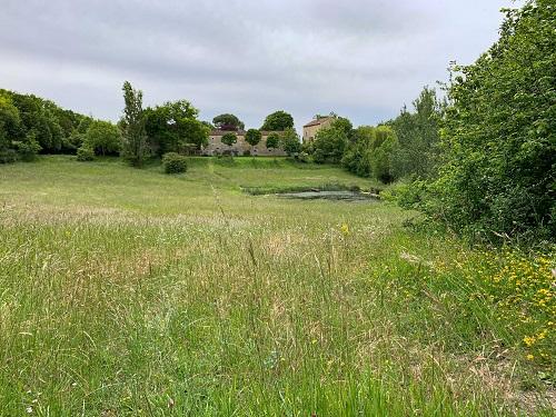 Photo vue prise sur le sentier karstique de La Romieu - Gazaupouy (Gers).